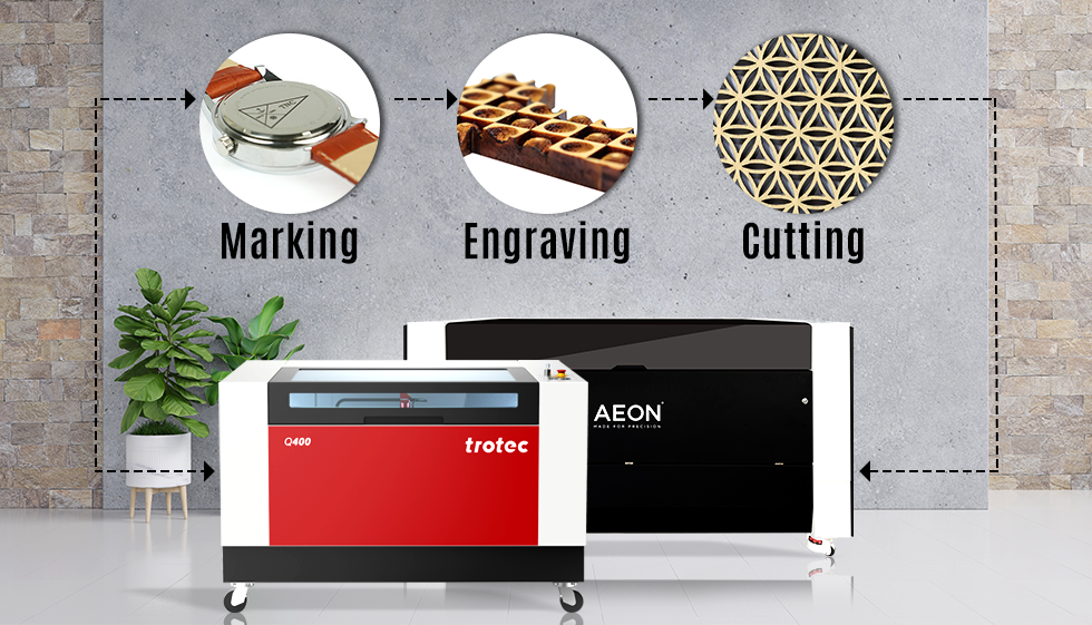 laser cutting, marking and cutting along with machines